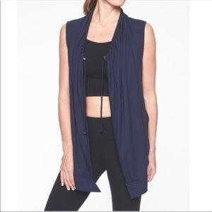 Athleta navy blue Mindset draped vest S
